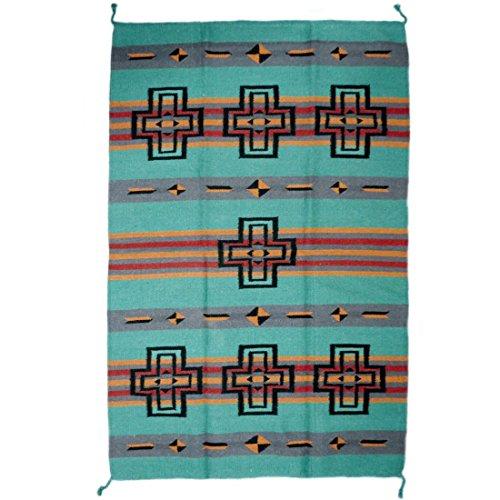 Teppich / Läufer im Stil der Navajo-Indianer - Wolle - Premium Southwest Cross II (Route 66-teppich)