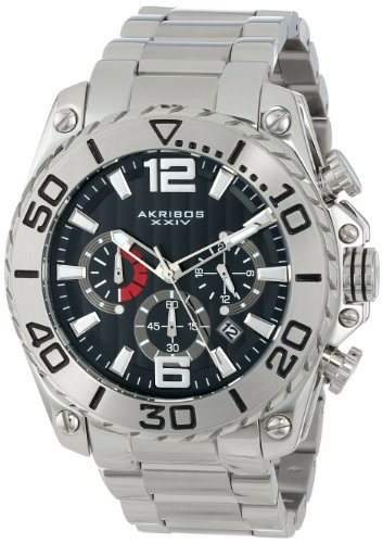 Akribos XXIV Men's AK639SS Conqueror Chronograph Stainless Steel Bracelet Watch