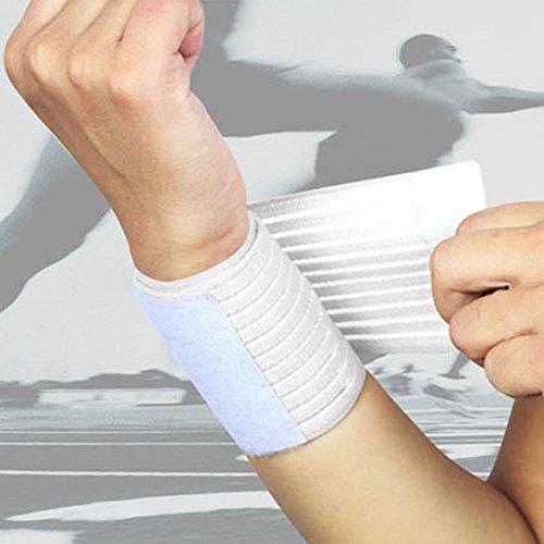 6SHINE 1 stüe Armband männer Frauen Outdoor Sports Elastische Handgelenk Band Tennis Basketball Weiche Armband(Weiß) -