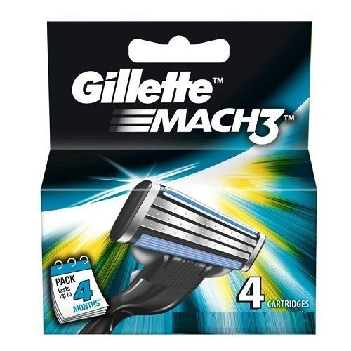 Gillette Mach3 4 Cartridge (pack of 2)