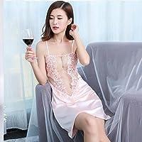 Pyjamas Damen Sommer Rock Spitzenkleid Ice Silk Nachthemd GAOLILI