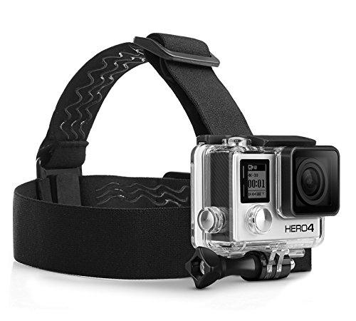 MyGadget Action Kamera Zubehör Kopfband Kopfhalterung mit J-Hook Adapter - Actioncam Kopfgurt Sport & Outdoor für z.B. GoPro Hero 6 5 4 3+, Xiaomi Yi 4K