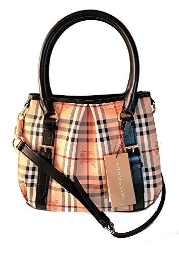 Burberry Haymarket Northfield Tote Bag (braun)
