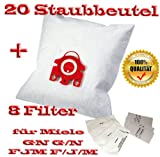 20 für Miele Staubbeutel Typ FJM F/J/M GN G/N + 8 Filter - Inhalt je Faltschachtel: 4 x 5 Staubbeutel + 4 x 1 Super Air Clean-Filter + 4 x 1 Motorschutzfilter - Staubbeutel GN FJM HyClean (Farbe: blau) Geeignet für: S 4xx, S 6xx, S 8xx, S 2xxx, S 5xxx , S 6xxx Staubbeutel Auch geeignet für:ALLERGY CONTROL , ALLERVAC SENSOR, AUTOMATIC TT 5000, BABY CARE, BIG CAT & DOG, BLUE MOON, BRILLANT 6600, CAT & DOG, TURBO