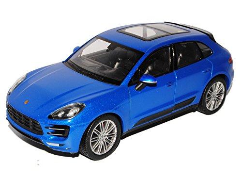 Welly Porsche Macan Turbo Saphir Blau Metallic Ab 2014 1/24 Modell Auto mit individiuellem Wunschkennzeichen