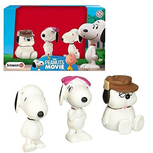 Schleich Figuras Establecen Snoopy | Belle y Olaf | Los Cacahuetes 22049
