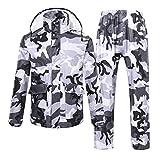 LAXF-Regenjacken Regenanzug für Männer und Frauen Regenkleidung (Regenjacke und Regenhosen Set) Erwachsene Wasserdicht regendicht Winddicht mit Kapuze (Farbe : A, Größe : XXL)