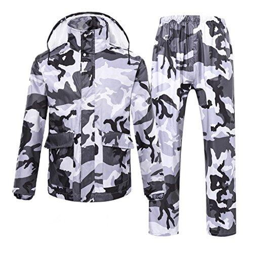 Regenanzug für Männer und Frauen Wiederverwendbare Regenkleidung (Regenjacke und Regenhosen Set) Erwachsene mit Kapuze Outdoor Arbeit Motorrad Golf Angeln Wandern Jagd Camo (größe : XXXL)