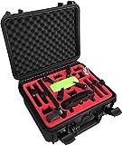 Transportkoffer für DJI Spark Fly More Combo mit Platz für 6 Akkus und viel Zubehör - Explorer Edition - von MC-CASES- Made in Germany - Outdoor Koffer - IP67 Wasserdicht