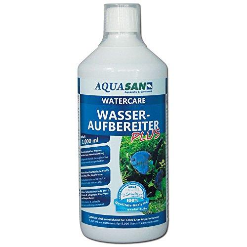 AQUASAN Aquarium WaterCare Wasseraufbereiter PLUS (GRATIS Lieferung in DE - Ideal ei Neueinrichtung und Wasserwechsel im Aquarium - Macht aus Leitungswasser fischgerechtes Aquariumwasser), Inhalt:1 Liter