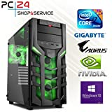PC24 GAMING PC | INTEL i7-8700K @6x4,50GHz | Samsung 970 M.2 SSD | nVidia GF GTX 1070 mit 8GB RAM | 16GB DDR4 PC2133 RAM | GA Z370 AORUS Ultra Gaming Mainboard | 600Watt 80+ ATX Netzteil | Windows 10 Pro | i7 Gamer PC