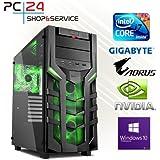 PC24 Gaming PC   Intel i7-7700K @4x4,50GHz   nVidia GF GTX 1070 mit 8GB RAM   16GB DDR4 PC2133 RAM   Gigabyte GA-Z270X-Gaming K5 Mainboard   600Watt 80+ ATX Netzteil   Windows 10 Pro   i7 Gamer PC