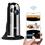 WiFi Camera, FREDI HD 1080P Wireless Baby Monitor WiFi Security Wide Viewing Angle IP Camera with IR Night Vision/2-way Talking/Motion Detection Loop Recording(Without SD Card)