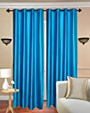 Fresh From Loom 4pc Polyster Plain Door Curtain - 7ft