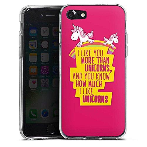 Apple iPhone X Silikon Hülle Case Schutzhülle Unicorn Einhorn Sprüche Silikon Case transparent