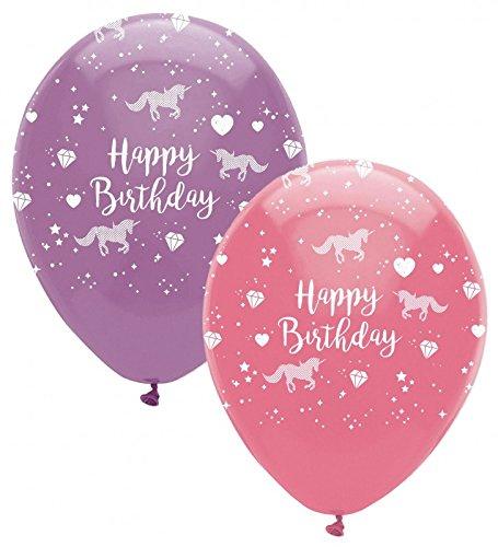 24 Geburtstags Luftballons Einhorn