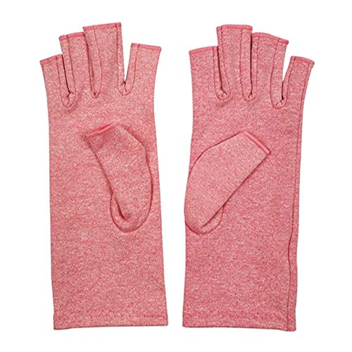 Leezo Kompressionshandschuhe, halbe Finger, rheumatische Arthritis-Handschuhe, leicht, atmungsaktiv, Thermo, Arthritis-Erholung, Winter-Handwäsche, m -