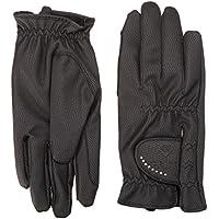 PFIFF 101950 Damen Winter Handschuhe, Reithandschuhe Kunstleder, Schwarz XXS-XL