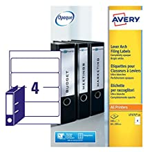 Avery Lever Arch File Label A4 Pack of 25 L7171-25