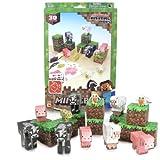 Jazwares Minecraft 16701 - Papierset zum Selberbasteln, Tiere, 30 Teile