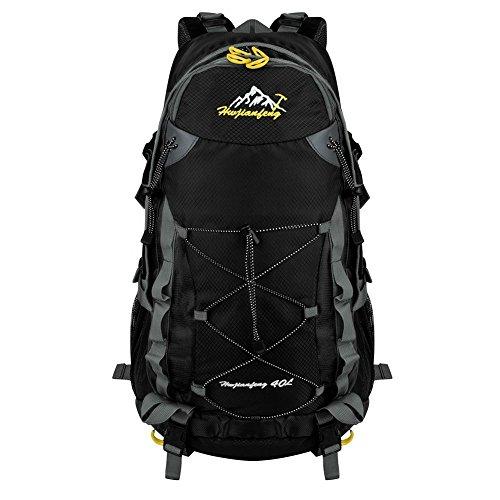 Imagen de macbag  de excursión resistente al agua daypack 40l 55l para camping, trekking y escalada negro, 40l