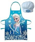 Walt Disney Frozen La Regina Dei Ghiacci (101344) Bambini Set di Executive Chef Grembiule da cucina e Cappello cuoco, 2 pezzi