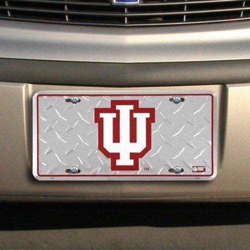 (6x12) Indiana University Hoosiers Diamond Cut NCAA Tin License Plate by Poster Revolution