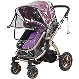 FakeFace Telaio per passeggino e carrozzina con tettuccio Parapioggia universale con cerniera per porta tradizionale Hundrends di culle e passeggini