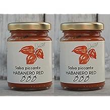 SALSA PICCANTE CON HABANERO RED - DUE VASETTI DA 90 gr./cad. - Salsa piccante di peperoncino Habanero rosso -Società Agricola Alba