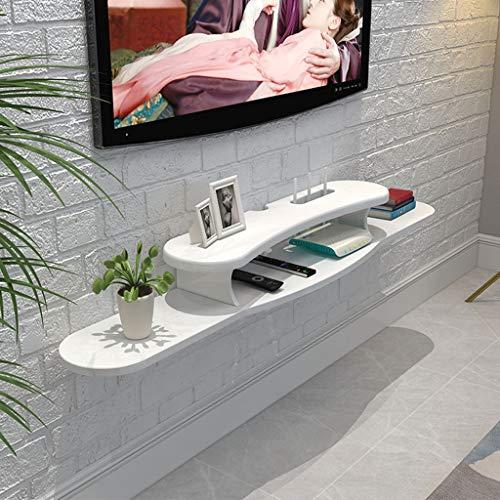LTJTVFXQ-shelf Hölzern Router Aufbewahrungskiste Fernseher Wandschrank Set Top Box Lagerregal Veranstalter Regal zum DVD Kabelbox