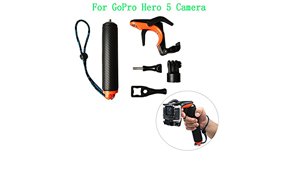 Meij Under Shutter Release Trigger Remote Control Waterproof Floating Handle Selfie Stick for Gopro Hero 2 Camera