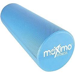 RODILLO DE ESPUMA - EVA - Rodillo de Espuma, 15cm * 45cm, Peso ligero - Proporciona un masaje muscular firme pero cómodo - Guía de Inicio Rápido - Perfecto para Gimnasia, Pilates, Yoga - ¡Garantía de por vida! (Blue)