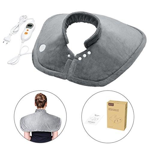 Schulter-maschine (MARNUR Wärmekissen Heizkissen mit Abschaltautomatik und SchnellwärmeFunktion für Nacken Schultern und die obere Rückenpartie)