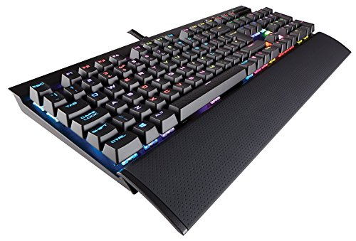 Corsair K70 Rapidfire RGB Mechanical Gaming Keyboard (Cherry MX Speed Switches: Linear and Rapid, Per Key Multi-Colour RGB Backlighting, Aluminium Chassis, QWERTY UK Layout) - Black
