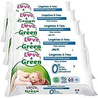 Love & Green - Lingette Sensitive 56 Pièces - Lot de 5