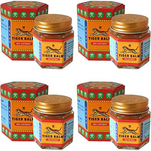 4 Jars of Tiger Balm Red Ointment 30g/Jar Large Jar!