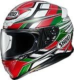 Shoei Helm NXR Rumpus , TC-4 rot-weiß-grün-schwarz, M