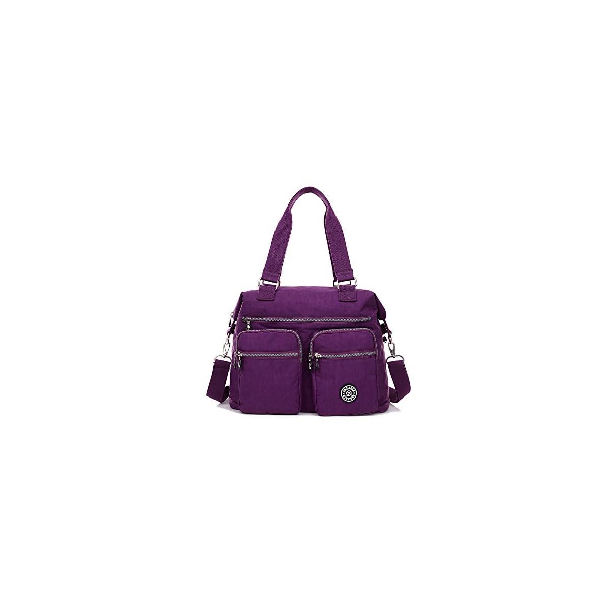 51jKxcT3MAL. SS1200  - Outreo Bolsos de Moda Mujer Messenger Bag Bolso Bandolera Bolsas de Viaje Escolares Impermeable Bolsos Baratos Mano para Tablet Sport Nylon