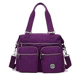 51jKxcT3MAL. SS324  - Outreo Bolsos de Moda Mujer Messenger Bag Bolso Bandolera Bolsas de Viaje Escolares Impermeable Bolsos Baratos Mano para Tablet Sport Nylon