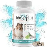 Ida Plus - BIERHEFE Tabletten mit Sollbruchstelle - Für Hunde - 120 Stück - Die optimale Unterstützung für Haut & Fell deines Vierbeiners - In praktischer Dose mit Frischesiegel