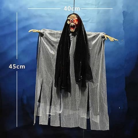 Halloween decoration props voice-activated witch skeleton bar party chamber escape scene