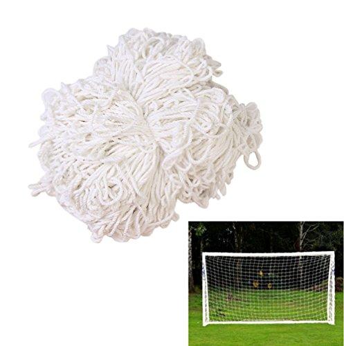 Smart Fun Fußballtornetz Ersatznetz für Sports Fußball Fußballtor Tor Tornetz Netz 3,6mx1,8m, 3 Größe (1,8mx1.2m, 3.6mx1,8m, 7,3mx2,4m) Weiß