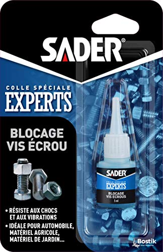 Sader Colle blocage vis écrou Flacon 5 ml