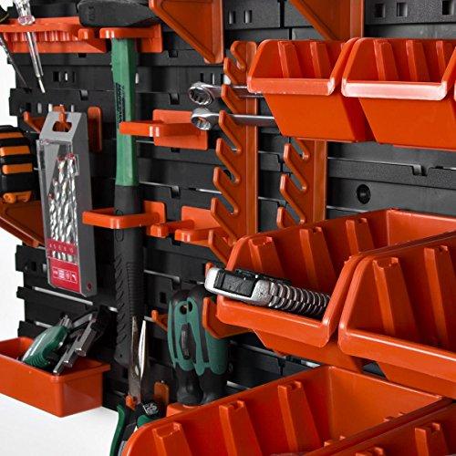 31 tlg Werkstattwandwandregal Stapelboxenregal Regal Stapelboxen Wandmontage -