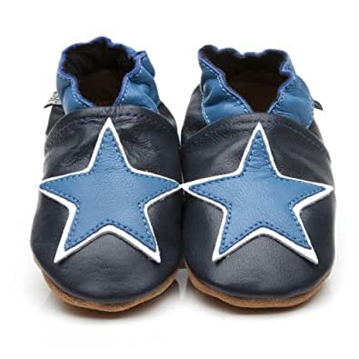 soft leather baby shoes blue 12 18 months co