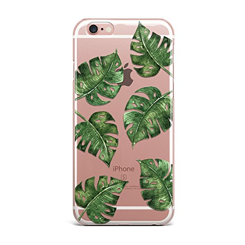 Blitz® PIZZA Schutz Hülle Transparent TPU Cartoon Comic iPhone  All Avocado M4 iPhone 7 Feigen Blätter M12