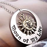 #4: Game of Thrones Song Of Ice and Fire Khal Khaleesil Moon Of My Life Sun And Stars Metal Necklace Locket Pendant Cospaly - No Box