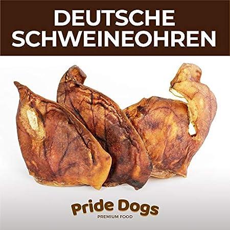 PrideDogs Schweineohren 400g der Premium Kausnack für Ihren Hund | 100% Schwein aus Deutscher Herstellung | im…