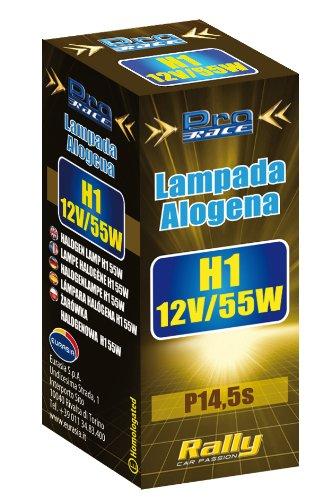 Rally 16040 Lampe Halogène H1 en Boîte, 55 W, Set de 2
