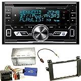 Kenwood DPX-5100BT Bluetooth USB CD Aux MP3 Autoradio Einbauset für Mercedes Viano Vito W639